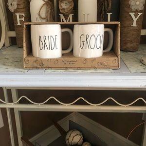 Rae Dunn Bride & Groom Mugs